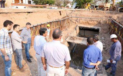 El intendente supervisó obras pluviales en la Lavalle