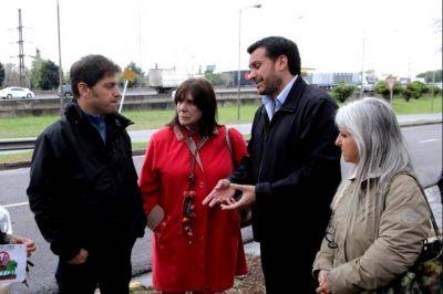 Recorrida por la Primera: Kicillof visitó distritos de Cambiemos y se mostró con los candidatos locales