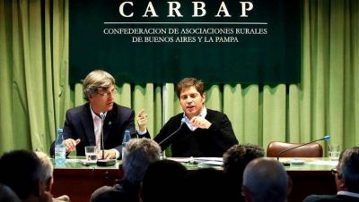 """Axel propuso al campo una """"mesa Tributaria"""" para discutir impuestos al sector"""