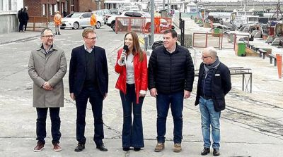 La gobernadora Vidal anunció créditos para el sector pesquero y naval