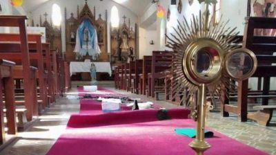 Delincuentes destrozaron y robaron Iglesia en Pontevedra