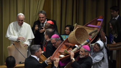 """El Papa pide un debate """"valiente"""" que comprenda a los pueblos de la Amazonía"""