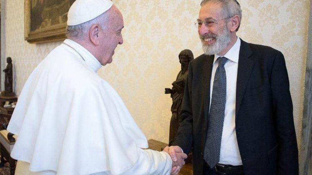 El Papa saludó al Gran Rabino de Roma en ocasión de las fiestas judías