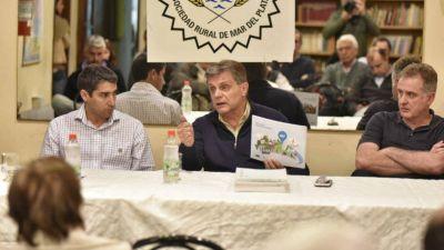 Pulti prometió reparar los caminos rurales y mejorar la seguridad