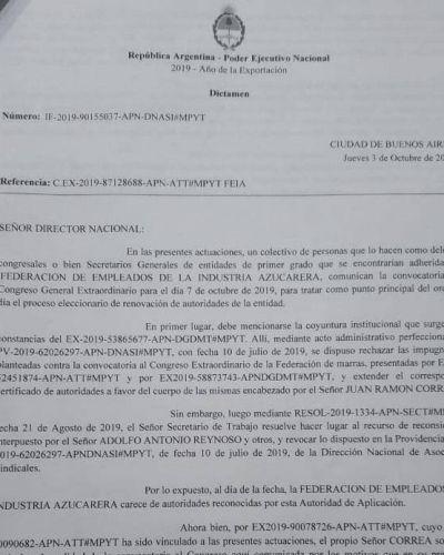 Correa denunció que buscan desplazarlo para quedarse con la Obra Social