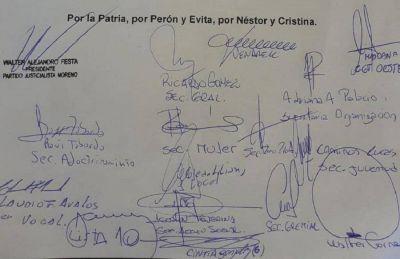 El Partido Justicialista de Moreno con Alberto, Axel y Mariel