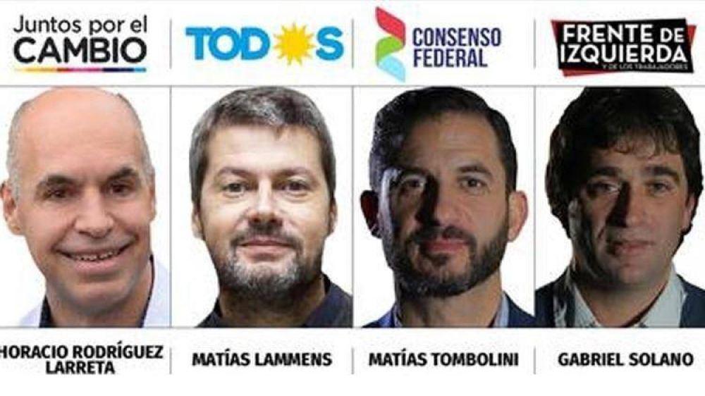 Todo lo que hay que saber para el debate a jefe de Gobierno porteño: candidatos, formato y temas