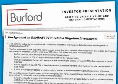 YPF: Burford dice que puede reclamar hasta u$s6.000 millones