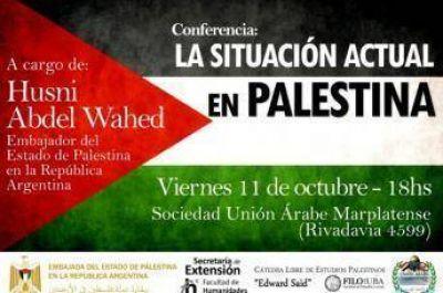 Conferencia en Mar del Plata del Embajador del Estado de Palestina