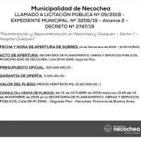 Sale a Licitación Pública la pavimentación de la zona del Hospital de Quequén