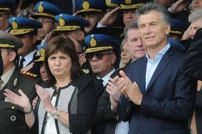Dan créditos a las fuerzas de seguridad y Patricia Bullrich gana espacio en la campaña