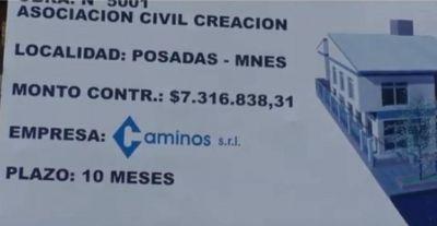"""La Provincia prevé entregar en dos meses el edificio para la Asociación Civil """"Creación"""""""