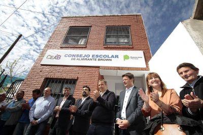 Cascallares inauguró nueva sede del consejo escolar en Almirante Brown