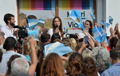 De paso por la Cuarta, Vidal se mostró convencida de poder revertir los resultados de las PASO