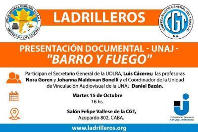 Ladrilleros presenta en la CGT el documental