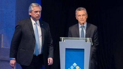 Mauricio Macri y Alberto Fernández ocuparon el centro del primer debate pero hasta la pelea fue muy guionada