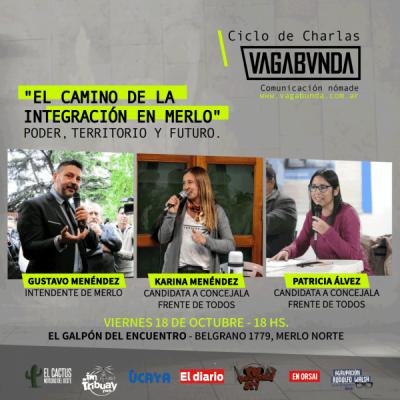 """Gustavo Menéndez, Karina Menéndez y Patricia Álvez participarán del ciclo de charlas """"Vagabunda"""" en Merlo"""
