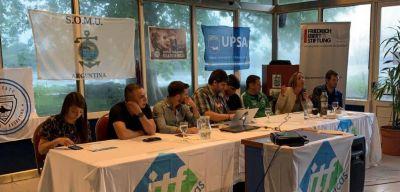 La Juventud de ITF apoyó la lucha de gremios portuarios, delivery y aeronáuticos