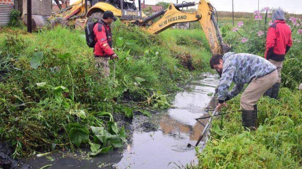 El Municipio desarrolló intensas tareas de mantenimiento de los desagües pluviales