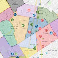 Reciclado: mapa de los Puntos Verdes