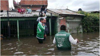 Quinto día de inundaciones en la Provincia: hay más de 7.000 evacuados