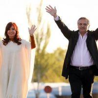 Alberto Fernández y CFK en el Día de la Lealtad: