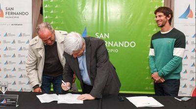 Juan Andreotti y el municipio de San Fernando firmaron convenios para intensificar el