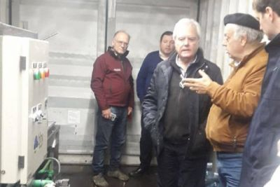 General Lavalle: con visitas, ya funciona la Planta Potabilizadora y Envasadora