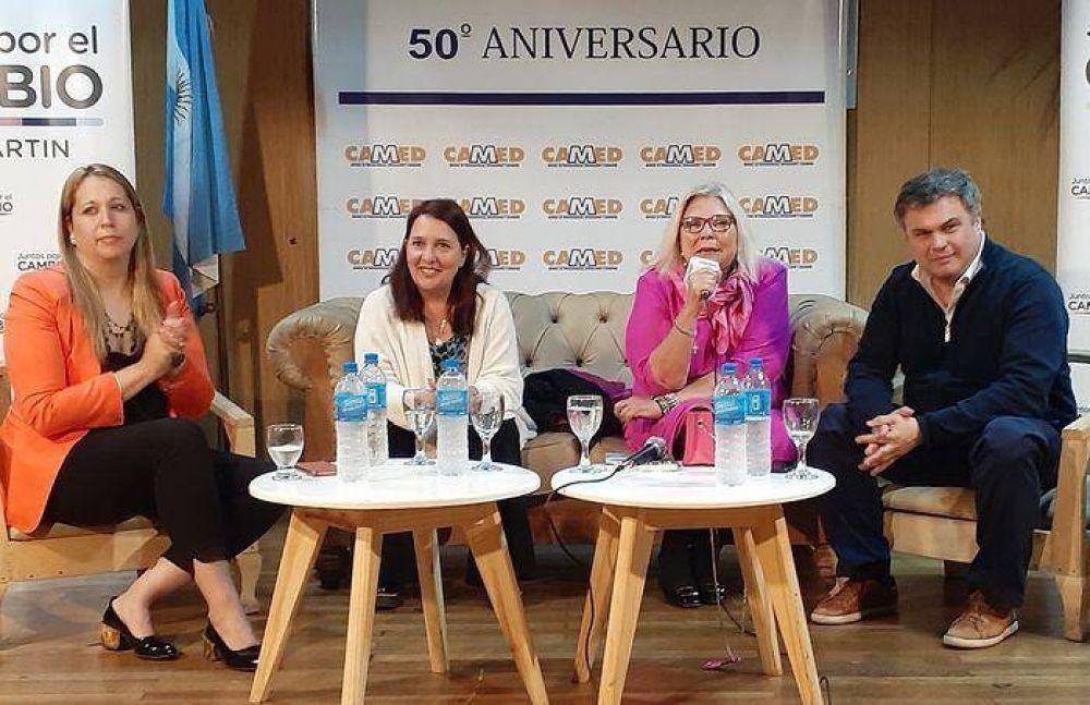 """Carrió en San Martín: """"Sé que el domingo que viene ganamos"""""""