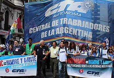 La CTA Autónoma moviliza en solidaridad con los trabajadores reprimidos en Chile