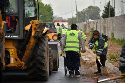 Esteban Echeverría: Operativo de limpieza tras el intenso temporal