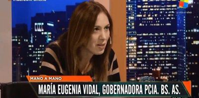 """María Eugenia Vidal: """"Si la gente elige a Kicillof, haré una transición ordenada y democrática con él"""""""
