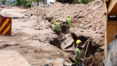 En noviembre terminaría la obra de agua en la Güemes