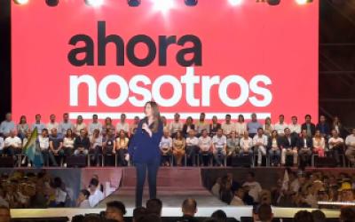 Vidal en Platense: Cerró su campaña con repaso de logros de gobierno y dijo