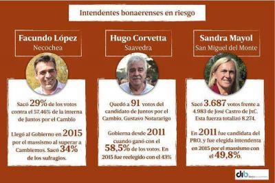 ¿Quiénes son los peronistas con riesgo de perder las intendencias?