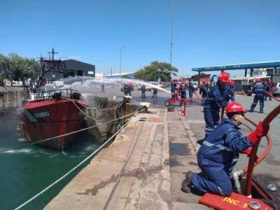 Simulacro de atentado en el Puerto para poner en práctica nuevo equipamiento y plan de emergencia contra incendios