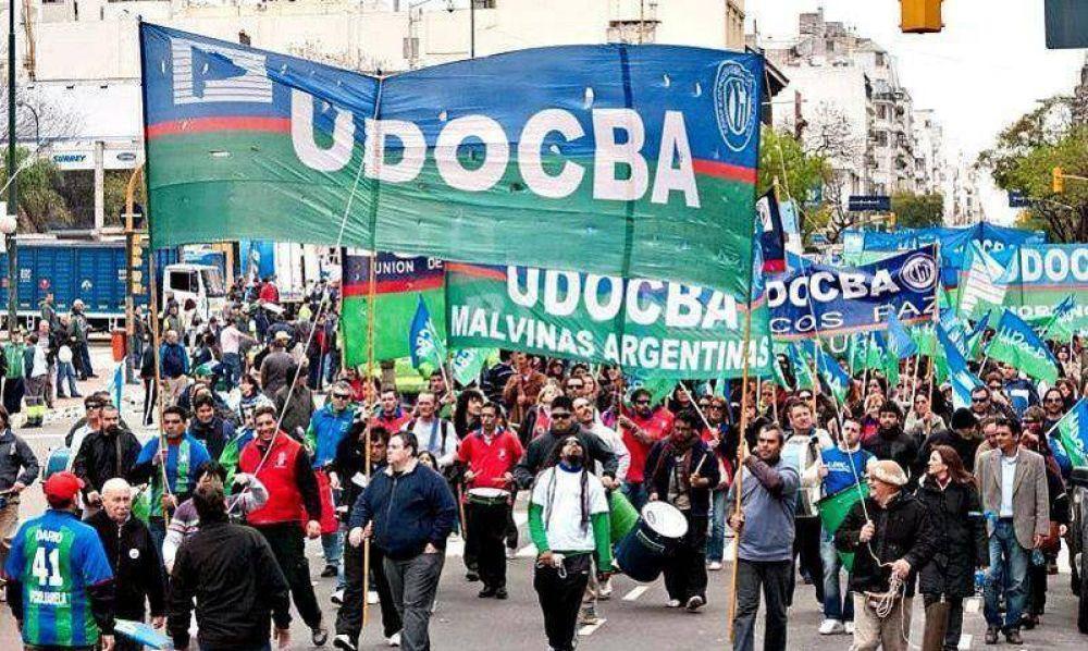 """UDOCBA denunció un """"trabajo de pinzas"""" en su contra: Nación no valida su estatuto y Provincia se lo exige"""