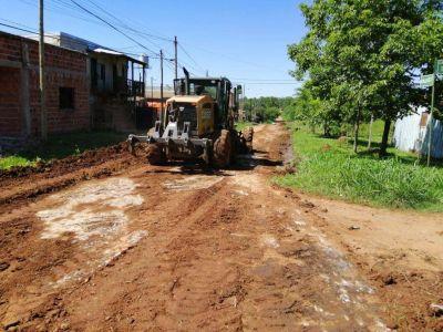 Posadas: concretaron obras de mejoramiento de calles terradas en los barrios San Marcos, Estepa y 12 de Octubre