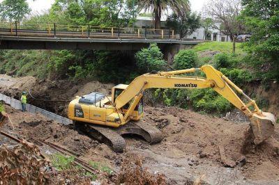 Avanza la obra de infraestructura de desagües pluviales
