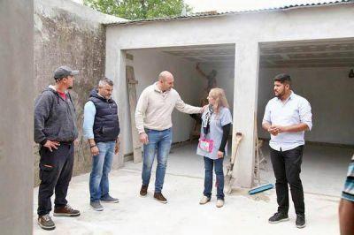 Martiniano Molina recorrió obras del Jardín Nº 923