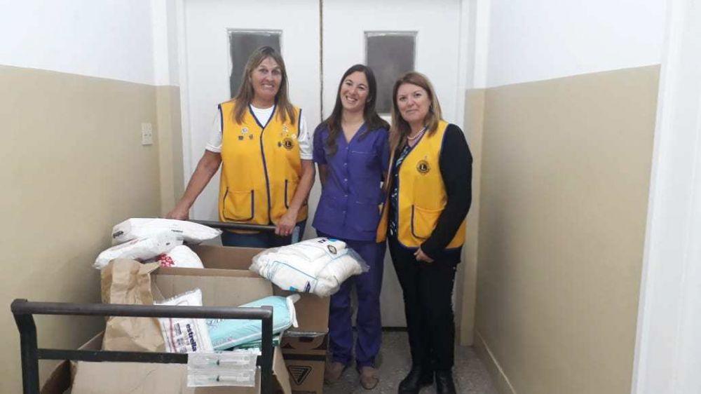 Entregan más de 100 kilos de alimentos para el Hospital Municipal