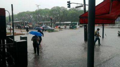 Diluvió en Buenos Aires y se inundaron varios barrios de la Capital