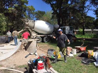 Skate: avance en la construcción del bowl en Villa del Deportista