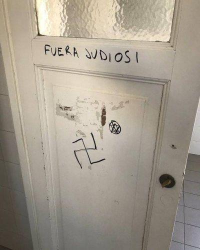 La Asociación de Abogados Judíos de la República Argentina repudió la pintada antisemita en la Facultad de Derecho