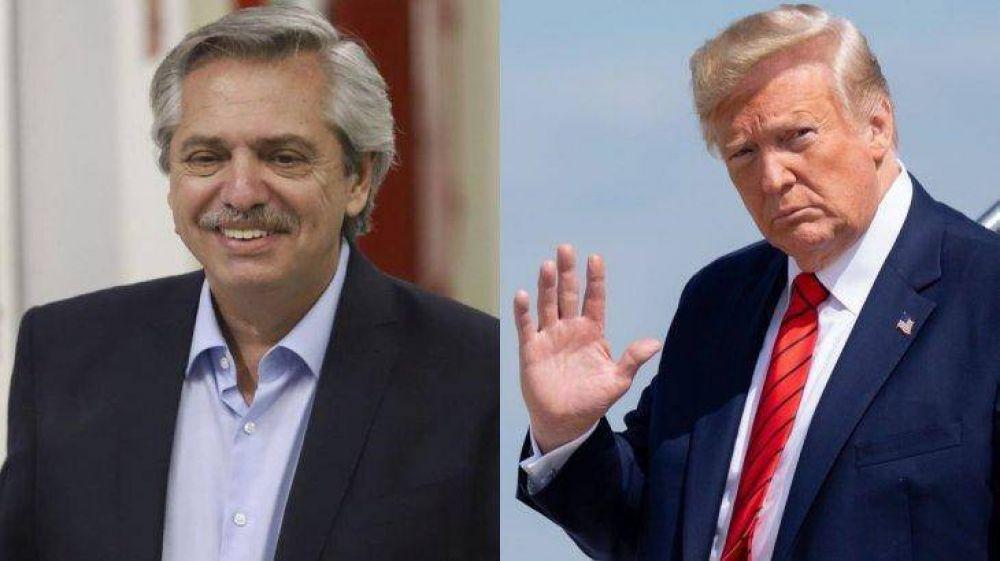 Deuda: refuerza Trump apoyo clave a Alberto Fernández