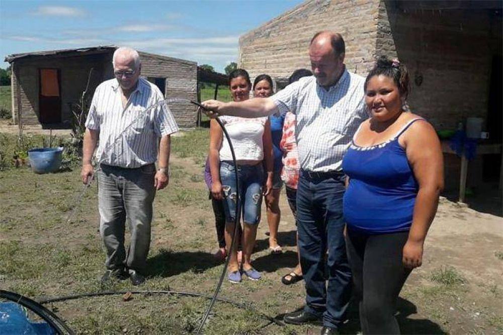 Quedó habilitado el servicio de agua corriente en el loteo de Isleta Norte