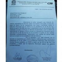 Los trabajadores municipales de Luján inician medida de fuerza por falta de pago