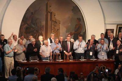 """Alberto Fernández en la CGT: """"Vamos a honrar la memoria de Perón"""""""