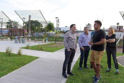 Nardini recorrió las nuevas obras en el centro de Los Polvorines