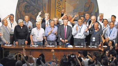 La CGT se mostró unida en apoyo al pacto social que propone Alberto F
